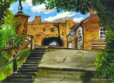 LANDGATE WALK RYE EAST SUSSEX OPEN EDITION PRINT BY MICHAEL PRESTON