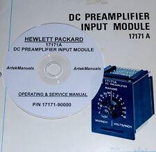 HP 17171A DC Preamp Module  Operating & Service Manual (very good schematics)