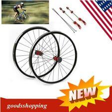 700 C V 51 mm Alliage Track Bike Wheel Set Sealed Bearing 32 Spoke 14 G 3//8 Essieu