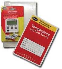 Temperature Log Book + Wallet + **FREE** Digital Fridge Thermometer - 22/497/3