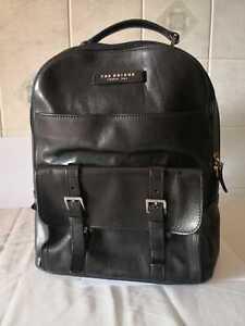 THE BRIDGE zaino elegantissimo nero pelle cuoio porta PC - leather backpack