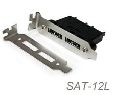 2-Port SATA Male to eSATA Female Low Profile Bracket Plate Adapter, SAT-12L