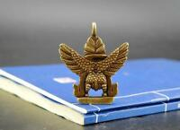 Chinese antique pure brass lucky Garuda Dhwaja small Exquisite pendant Gift