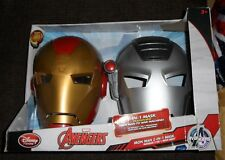 Disney Marvel Iron Man 2 in 1 Mask Iron Man & War Machine new
