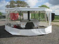 Seitenklanplane transparent für Gulaschkanone Feldküche Kärcher TFK 250 Weiß