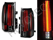 2015-2018 GMC Yukon XL SUV Black Full LED Tail Lights Lamps RH + LH