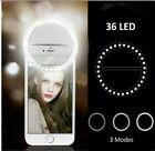 Super Bright Phone Light Recharge Portable Selfie LED Ring Light iPhone Samsung