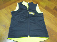 NEW! SPECIALIZED UTILITY REVERSIBLE CYCLING VEST BLACK/NEON YELLOW MEN'S LARGE