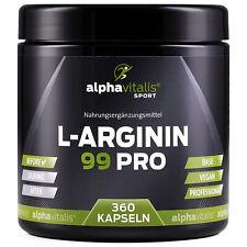 Alphavitalis L-Arginin 99 PRO 360 Base Kapseln hochdosiert vegan Aminosäure