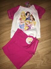 Girls DISNEY Princess Nightie Pyjamas  Age 4 110cm Shorts New Tags Pinks