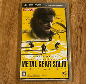 Metal Gear Solid Peace Walker Japan Ver Sony PSP