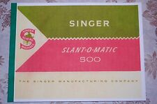 Large Deluxe-Edition Instructions Manual for Singer 500 Sewing Machine