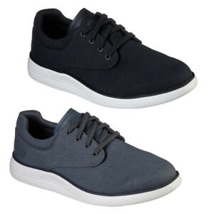 New Mens Skechers Status 2.0 Burbank Casual Canvas Oxford Shoe Trainers