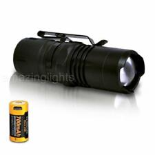 ORION Zoom 1 300 Lumen Adjustable Focus Everyday Flashlight & Rechargeable 16340