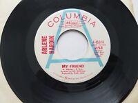 "ARLENE HARDIN - My Friend / Baby PROMO 7"" COUNTRY POP (EX-) Columbia"