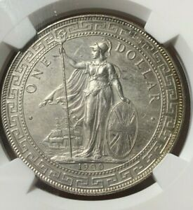 1900B Great Britain Trade Dollar $ Silver - NGC UNC Details