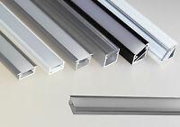 Aluminiumprofil für LED Band Strip Leiste Schiene Alu Profil  +Abdeckung 6201/03