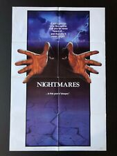 "Nightmares (1986) - Original One Sheet Movie Poster - 27"" x 41"""