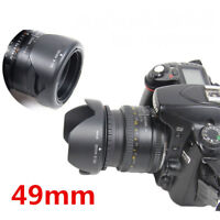 49mm Reversible Petal Flower Lens Hood For Nikon Canon Olympus DSLR Camera