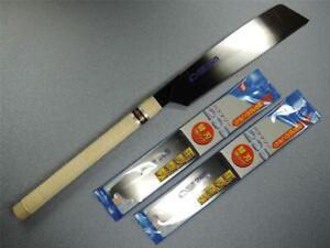 Japanese BAKUMA Saw 265mm Kataba/Single Sided Saw Cross Cut W/2pcs Spare Blades