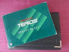 DAIHATSU TERIOS (2000 - 2006) OWNERS MANUAL - USER GUIDE - HANDBOOK  (YJL 1362)