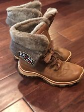 Pajar Alice Women's Waterproof Lined Cognac Brown Snow Boot Size 38 EU 7.5 US
