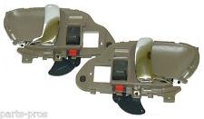 New Inside Door Handle PAIR TAN & CHROME / FOR 1995-98 CHEVROLET & GMC TRUCK