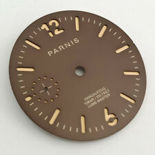 35.4mm dark brown watch case Fit ETA 6497 movement P910