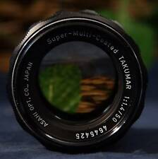 Nice. ASAHI Opt  Co. Pentax Super-Multi-Coated Takumar 50mm f1.4 M42 Mount Lens