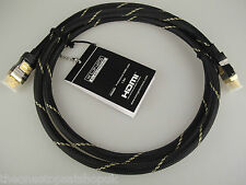 1.5 M HDMI Cable 24k Or HD v1.4c LCD bluray Sky ps3