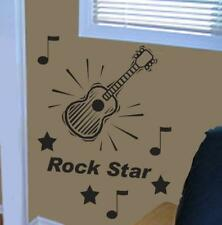 wall vinyl sticker hanging ROCK STAR GUITAR DECAL KIT