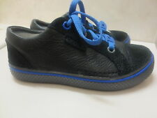 Kids' crocs Hover Sneaker  Leather Black Graphite size C13 NWT!!!!