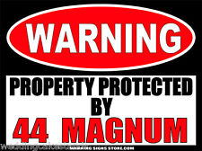 "44 Magnum Funny Ammo Warning Sign Stickers Set of 2 Decals 4"" wide WS261"