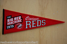 "1975 CINCINNATI REDS ""THE BIG RED MACHINE"" PENNANT BEAUTIFUL BENCH MORGAN ROSE"