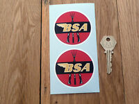 BSA Motorcycle Red Circular Piled Arms 65mm stickers