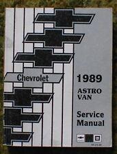 1989 Chevy Astro Van Shop Manual 89 Chevrolet Service