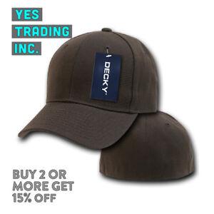 DECKY 402 CLASSIC MENS PLAIN HAT CASUAL BASEBALL CAP PRE CURVED HATS BASIC CAPS