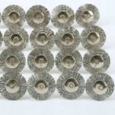 20PCS Stainless Steel Wire Wheel Brush Cleaner Polishing Rotary Tool for Dremel