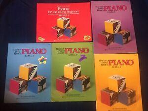 Bastien Piano Basics: Piano Primer A & Level 1- 4: 5 book set: WP 201-204 & 230