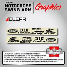2005 2006 2007 2008 HONDA CRF 450 R SWING ARM CLEAR GRAPHICS USA MADE 18 MIL