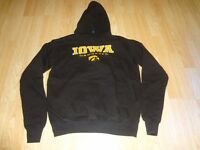 Youth Iowa Hawkeyes L (14/16) Hoodie Hooded Sweatshirt (Black) Old Varsity Brand