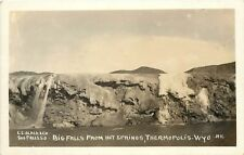c1910 RPPC Postcard Big Falls from Hot Springs Thermopolis WY Slack Photo #11