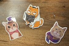 cat stickers for Multi-use, Fun, Sticker Pack, Waterproof, 3 Pack, Cute Kitty
