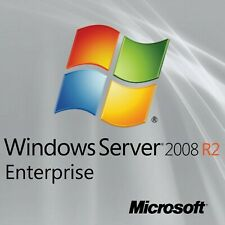 Windows Server 2008 R2 Enterprise x64 Full 8 CPU License + 20 User CAL + Install