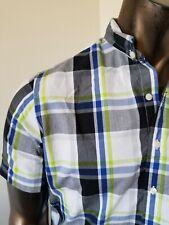 US POLO ASSN. short sleeve plaid SHIRT -  Size M