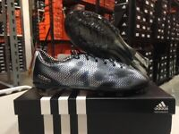 Adidas Junior F50 Adizero FG Soccer Cleats (Black/White) Size: 3-3.5 NEW!