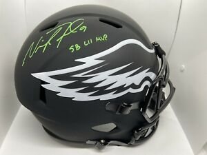 Nick Foles Autographed Full Sized Replica Eclipse Eagles Helmet w/ SB XLII MVP !