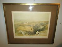 Bethlehem by David Roberts 1839 Lithograph Israel Mid-East Framed Matted