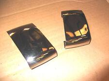 MERCEDES W126 SEL,SE 300,420,500,560 FACE LIFT 87-92 FRONT CHROME BUMPER COVERS