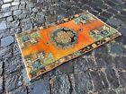 Turkish rug, Vintage rug, Handmade rug, Small rug, Doormats   1,4 x 2,4 ft